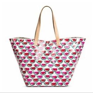 NWT Laminated Watermelon Tote Bag